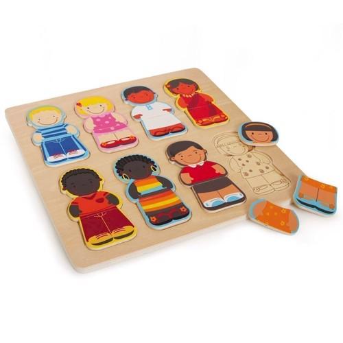 Image of   Puslespil, børn fra verden