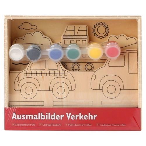 Image of   3d malesæt, køretøjer