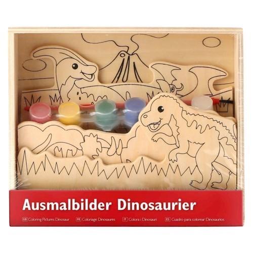 Image of   3d malesæt, dinosaur