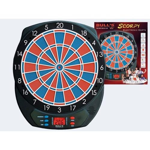 Image of   Elektrinisk Dartskive Scorpy, op til 4 spillere, 21 spil 6 Dartpile