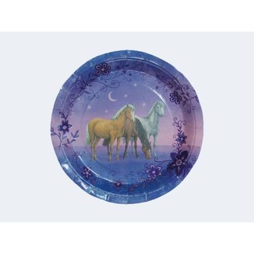 Image of   6 engangs tallerkener med heste