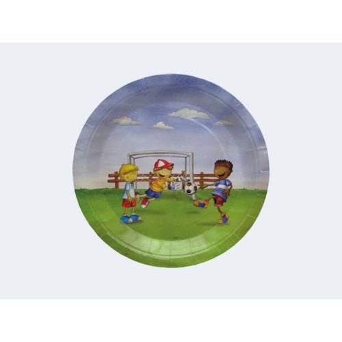 Image of   6 engangs tallerkener med fodbold