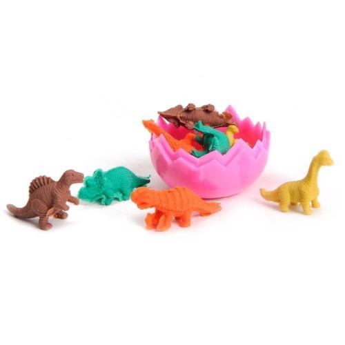 Image of   Dinosaur viskelæder i æg, 8 stk