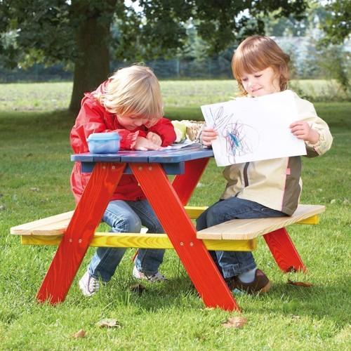 Image of   Piknikbord i træ, til 4 personer