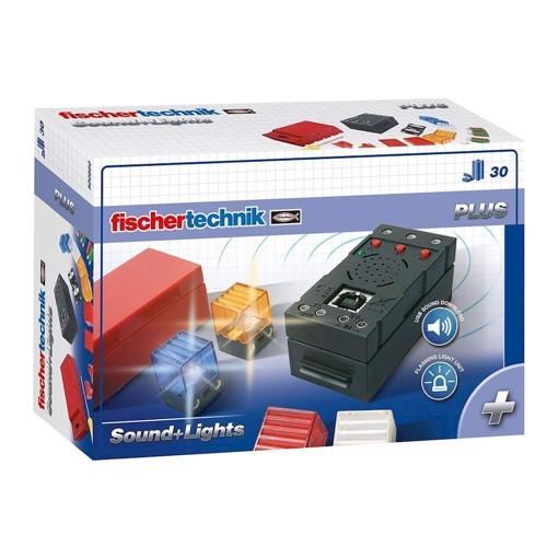 Image of Fischertechnik Plus lys og lyd 30 dele (4048962003260)