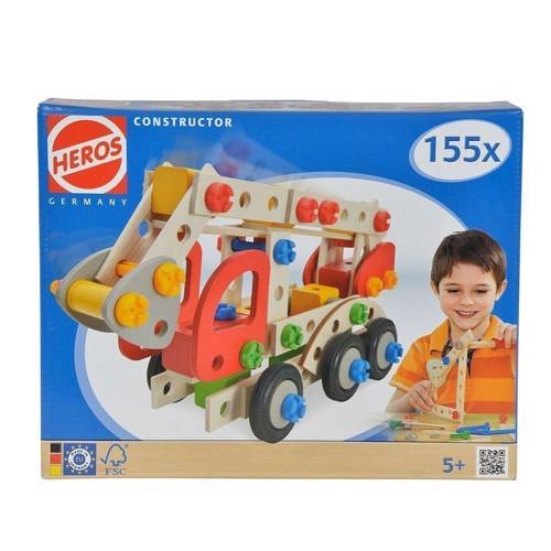 Image of HEROS byggesæt, brandbil 155 dele (4051902390856)