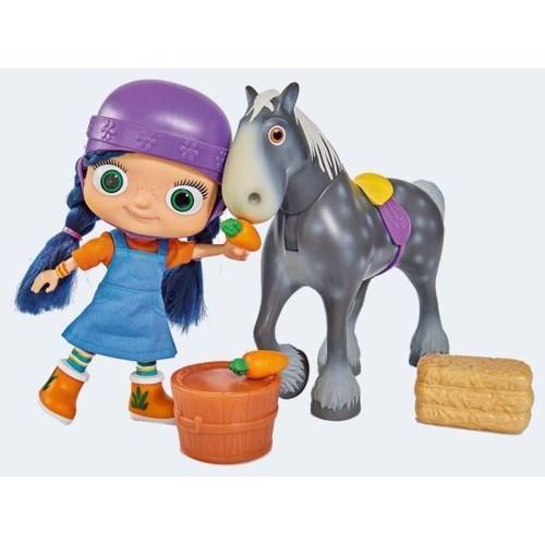 Image of   Wissper dukke med hest Herbert 28cm