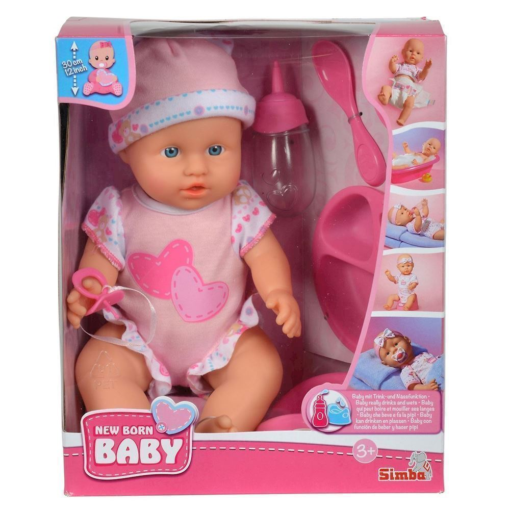 5a6105598 New Born Baby, dukke med tilbehør