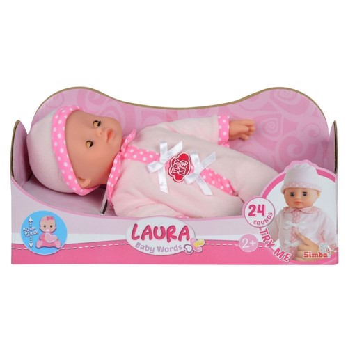 Image of Laura, talende baby dukke