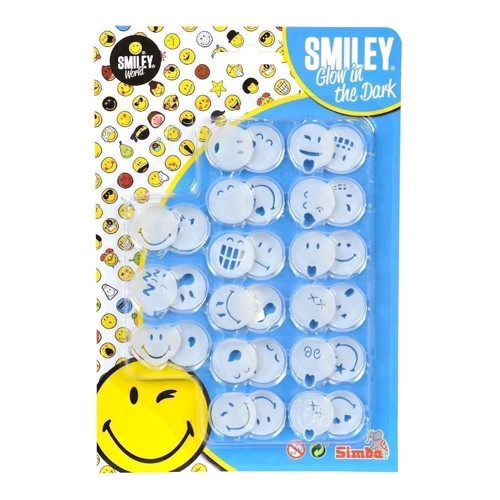 Image of   Smileysæt, lyser i mørke, 30 stk