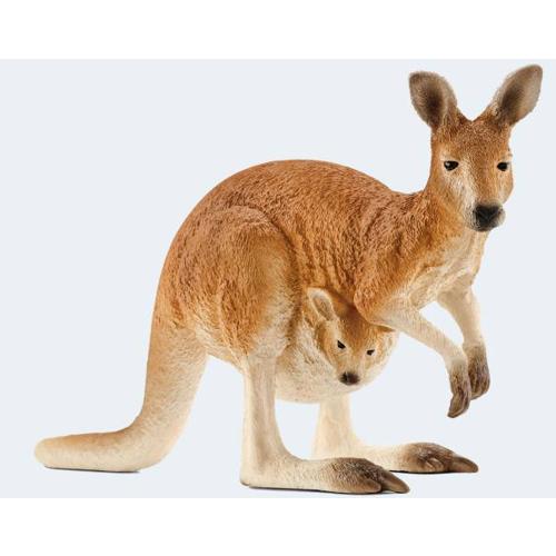 Image of   Schleich kænguru med unge