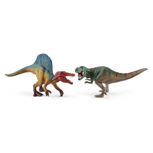 Image of Schleich Spinosaurus og T-Rex mini (4055744011634)