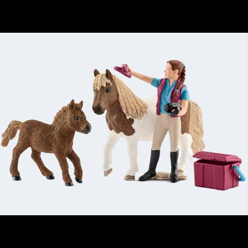 Image of   Schleich ponyer med tilbehør