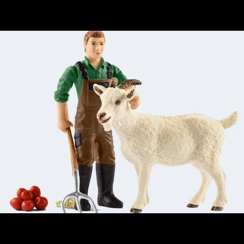 Image of   Schleich bondemand med ged