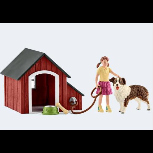 Image of   Schleich Hundehus med tilbehør