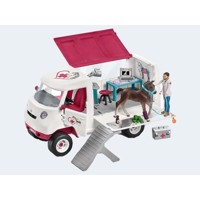Schleich Mobile veterinarian with Hanoverian foals
