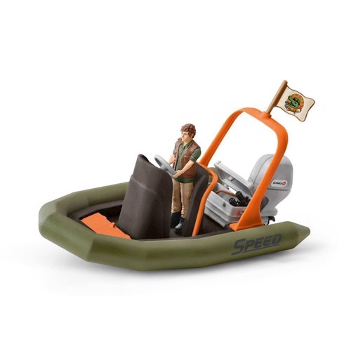Image of Schleich båd med ranger (4055744013997)