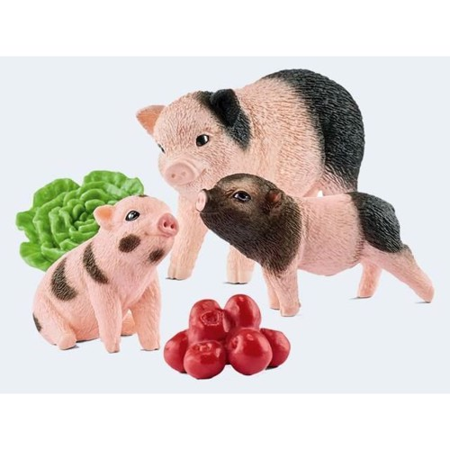 Image of   Schleich mini gris, mor med unge