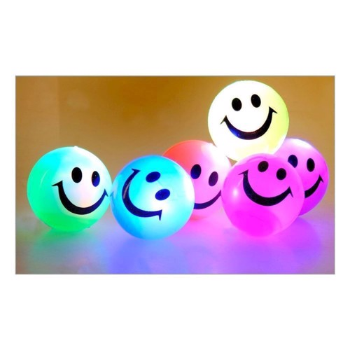Image of   Hoppebold med lys, smiley