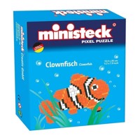 Ministeck clownfish m background 13x20cm