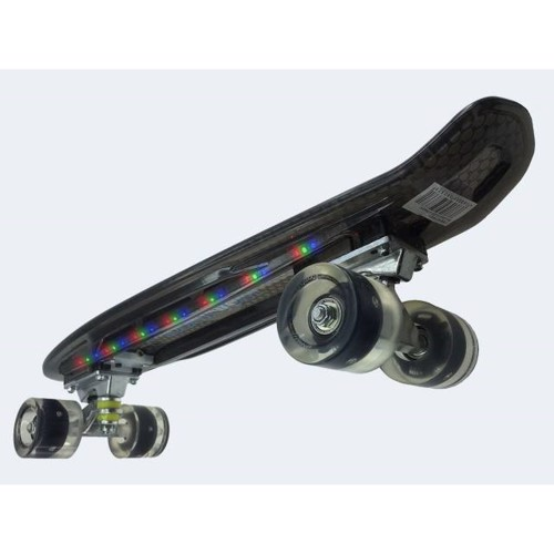 Image of   Skateboard med LED 55cm sort