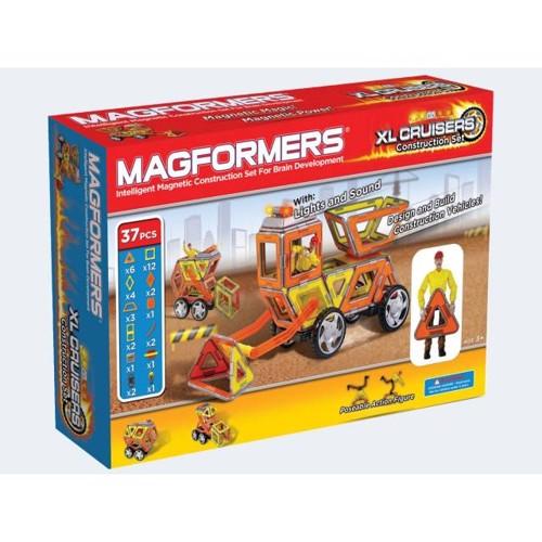 Image of   Magformers Construction Sæt 37 dele med LED lys