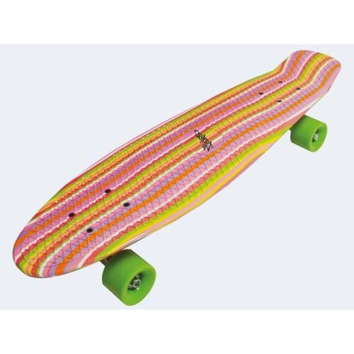 Image of   Skateboard fun delux regnbue farvet