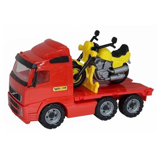 Image of   Wader Lastbil med lad og motorcykel