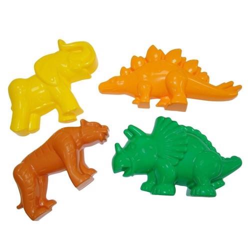 Image of   Sandsæt med dinosaur og vilde dyr