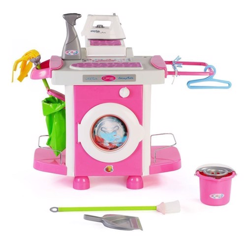 Legetøj, Vaskemaskine Med Tilbehør