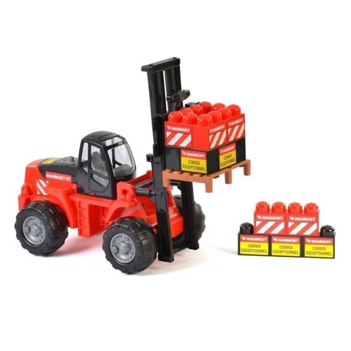 Image of   Mammoet Toys, gaffatruck med byggeklodser