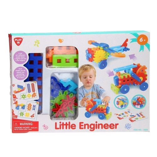 Image of   PlayGo Engineerset - Aircraft and Fire