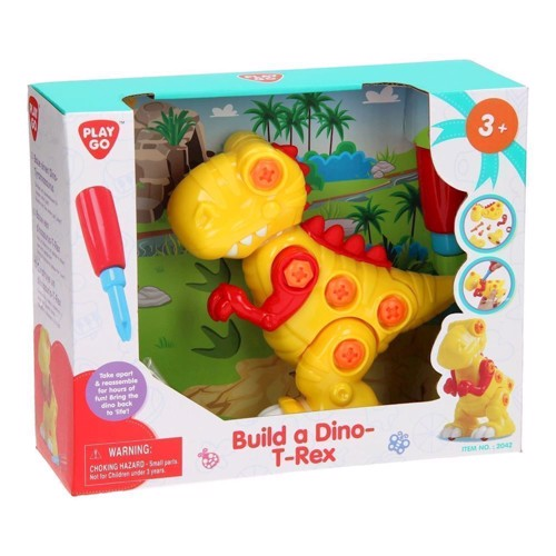 Image of   PlayGo Build Your Own Dino - T-Rex