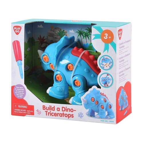 Image of   PlayGo Build Your Own Dino - Triceratops