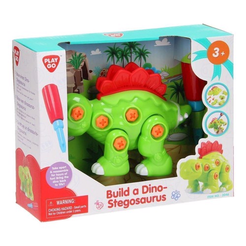 Image of   PlayGo Build Your Own Dino - Stegosaurus