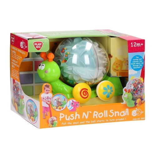 Image of   PlayGo Push &Roll Snail