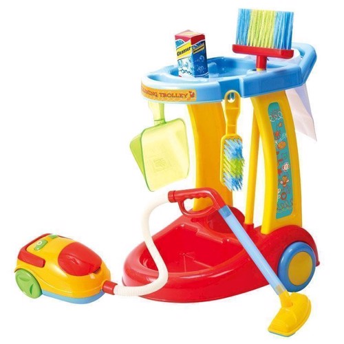 Image of   PlayGo Cleaning Trolley with Vacuum, 7dlg.