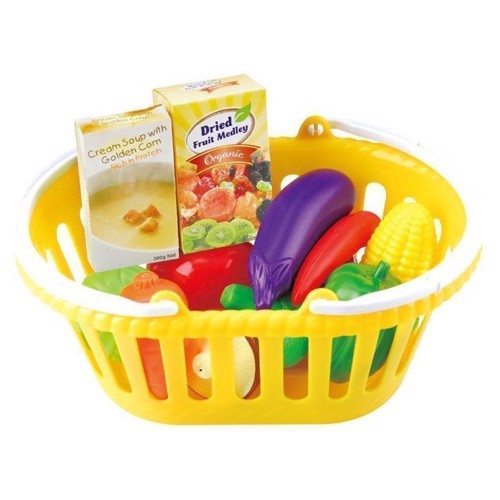 Image of   PlayGo Basket of Vegetables, 13dlg.