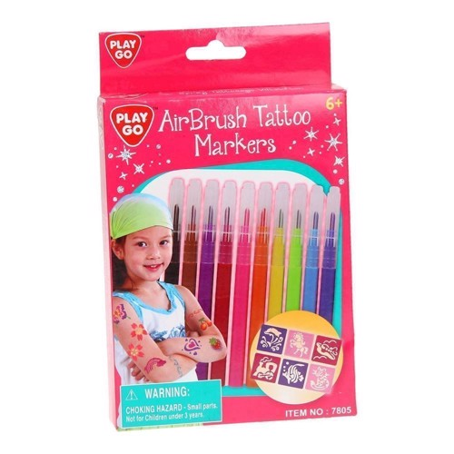Image of   PlayGo Air Brush Tattoo Markers, 10st.