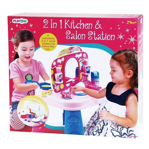 Image of   PlayGo Kitchen &Kaptafel, 2-in-1