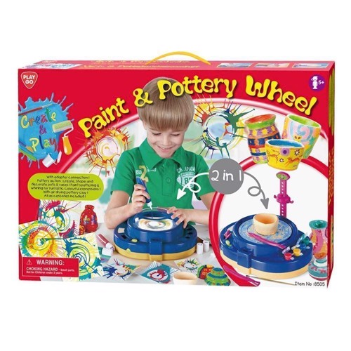 Image of   PlayGo Paint and pottery Turntable, 2-in-1