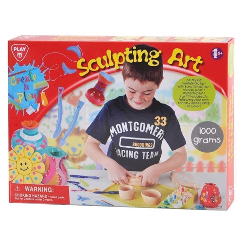Image of   PlayGo Clay Sculpturen Set