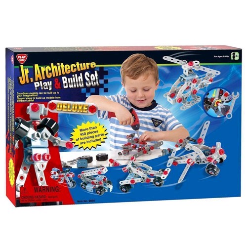 Image of   PlayGo Construction Set, 500dlg.