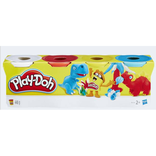 Image of PlayDoh 4-pack kink blue yellow red white