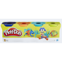 PlayDoh 4 Pack Knitting d-blue orange n-blue green