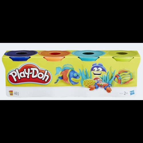Image of PlayDoh 4 Pack Knitting d-blue orange n-blue green