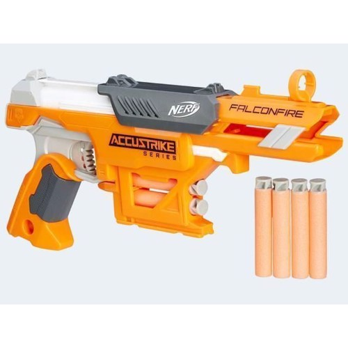 Image of   Nerf ACCU Strike Falconfire soft pistol 30cm