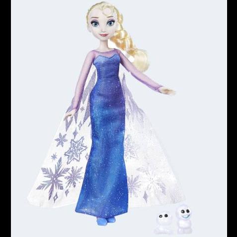 Image of   Disney, Frozen/Frost - dukke Elsa med snemænd