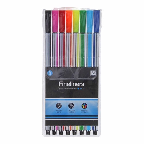 Image of tusher Fine liners, 8 stk