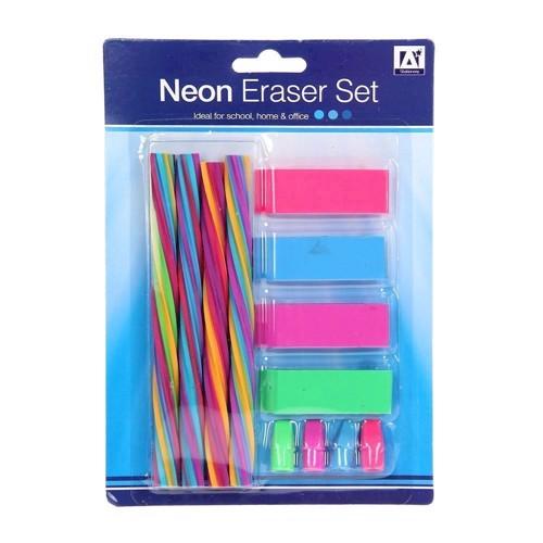 Image of   Neon viskelæder 12 stk